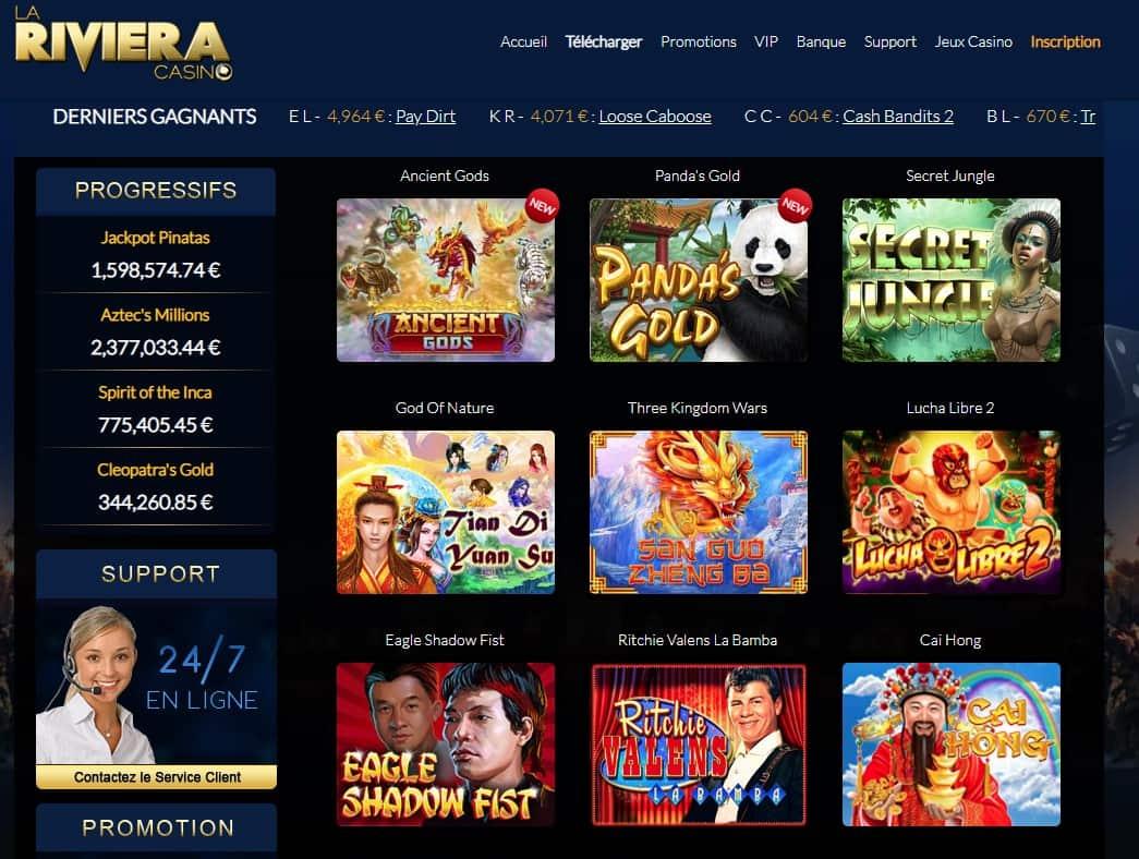 la riviera casino jeux
